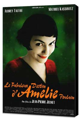 Amelie - 27 x 40 Movie Poster - Style A - Museum Wrapped Canvas