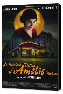 Amelie - 27 x 40 Movie Poster - Style B - Museum Wrapped Canvas
