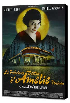 Amelie - 27 x 40 Movie Poster - French Style A - Museum Wrapped Canvas