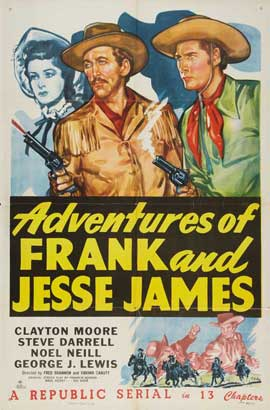 American Bandits: Frank and Jesse James - 11 x 17 Movie Poster - Style B