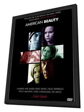 American Beauty - 27 x 40 Movie Poster - Style C - in Deluxe Wood Frame