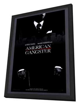 American Gangster - 27 x 40 Movie Poster - Style B - in Deluxe Wood Frame