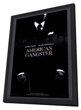 American Gangster - 11 x 17 Movie Poster - Style A - in Deluxe Wood Frame