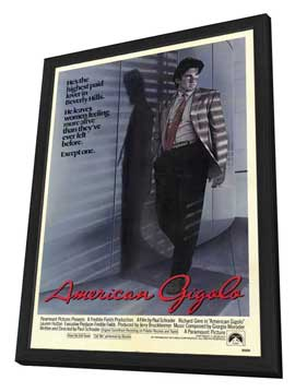 American Gigolo - 27 x 40 Movie Poster - Style A - in Deluxe Wood Frame