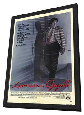 American Gigolo - 11 x 17 Movie Poster - Style A - in Deluxe Wood Frame
