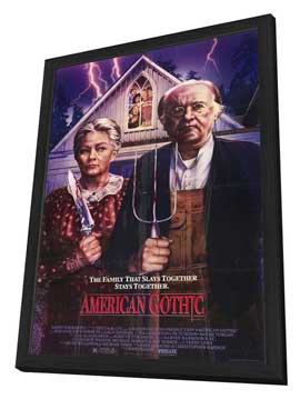 American Gothic - 27 x 40 Movie Poster - Style A - in Deluxe Wood Frame