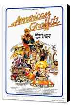American Graffiti - 11 x 17 Movie Poster - Style A - Museum Wrapped Canvas
