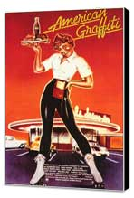 American Graffiti - 11 x 17 Movie Poster - German Style A - Museum Wrapped Canvas
