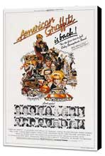 American Graffiti - 27 x 40 Movie Poster - Style B - Museum Wrapped Canvas