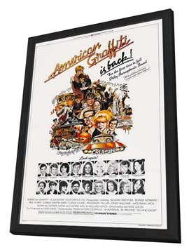 American Graffiti - 27 x 40 Movie Poster - Style B - in Deluxe Wood Frame