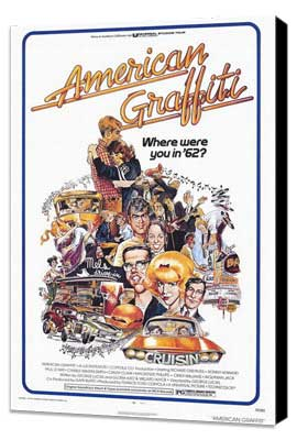 American Graffiti - 27 x 40 Movie Poster - Style A - Museum Wrapped Canvas