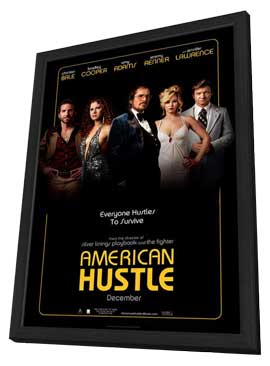 American Hustle - 11 x 17 Movie Poster - Style F - in Deluxe Wood Frame