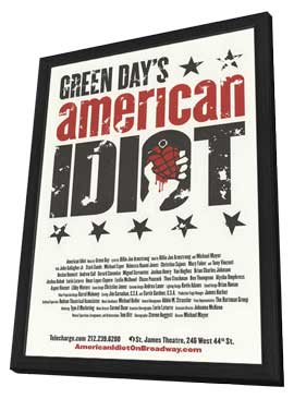 American Idiot (Broadway) - 14 x 22 Poster - Heavy Stock - in Deluxe Wood Frame