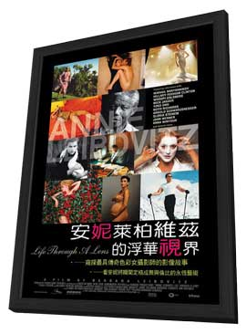 American Masters Annie Leibovitz: Life Through a Lens - 11 x 17 Movie Poster - Taiwanese Style A - in Deluxe Wood Frame