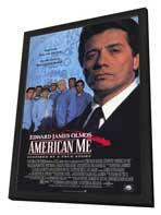 American Me - 27 x 40 Movie Poster - Style A - in Deluxe Wood Frame