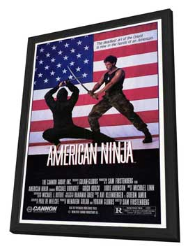 American Ninja - 27 x 40 Movie Poster - Style A - in Deluxe Wood Frame