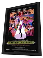 American Pop - 11 x 17 Movie Poster - Style A - in Deluxe Wood Frame