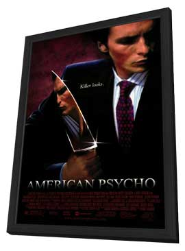 American Psycho - 27 x 40 Movie Poster - Style A - in Deluxe Wood Frame