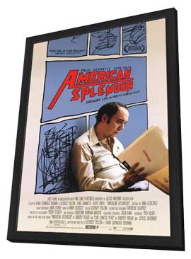American Splendor - 27 x 40 Movie Poster - Style A - in Deluxe Wood Frame