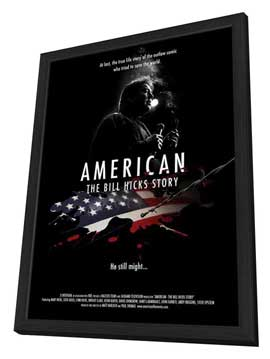 American: The Bill Hicks Story - 11 x 17 Movie Poster - Style A - in Deluxe Wood Frame