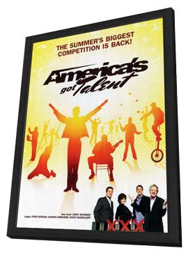 America's Got Talent - 11 x 17 TV Poster - Style B - in Deluxe Wood Frame