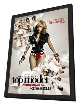 America's Next Top Model - 11 x 17 TV Poster - Style G - in Deluxe Wood Frame