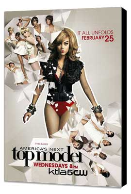 America's Next Top Model - 11 x 17 TV Poster - Style G - Museum Wrapped Canvas