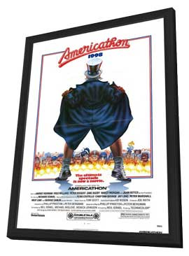 Americathon - 11 x 17 Movie Poster - Style A - in Deluxe Wood Frame