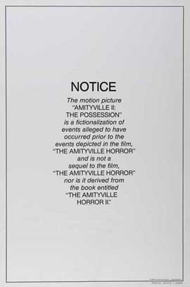 Amityville 2: The Possession - 27 x 40 Movie Poster - Style B