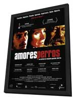 Amores Perros - 27 x 40 Movie Poster - Spanish Style C - in Deluxe Wood Frame