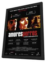 Amores Perros - 11 x 17 Movie Poster - Spanish Style D - in Deluxe Wood Frame