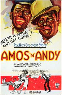Amos 'N' Andy Cartoons - 43 x 62 Movie Poster - Bus Shelter Style A