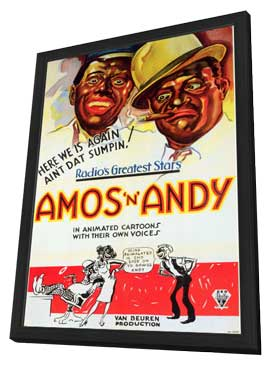 Amos 'N' Andy Cartoons - 11 x 17 Movie Poster - Style A - in Deluxe Wood Frame