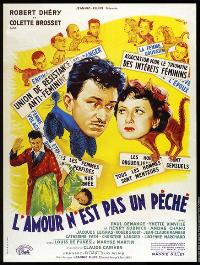 Amour n'est pas un p�ch�, L' - 11 x 17 Movie Poster - French Style A