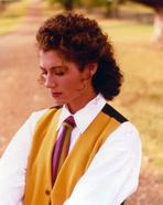 Amy Grant - Amy Grant Posed in a White Long Sleeved and Tie