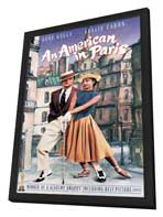 An American in Paris - 11 x 17 Movie Poster - Style F - in Deluxe Wood Frame