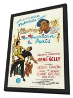 An American in Paris - 27 x 40 Movie Poster - Style B - in Deluxe Wood Frame