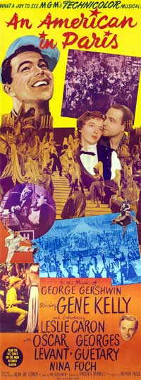 An American in Paris - 14 x 36 Movie Poster - Insert Style B