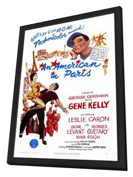 An American in Paris - 27 x 40 Movie Poster - Style A - in Deluxe Wood Frame