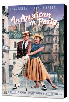 An American in Paris - 11 x 17 Movie Poster - Style F - Museum Wrapped Canvas