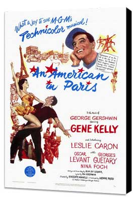 An American in Paris - 27 x 40 Movie Poster - Style A - Museum Wrapped Canvas
