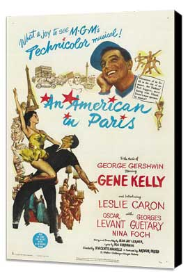 An American in Paris - 27 x 40 Movie Poster - Style B - Museum Wrapped Canvas