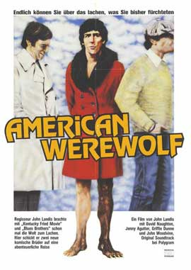 An American Werewolf in London - 27 x 40 Movie Poster - German Style A