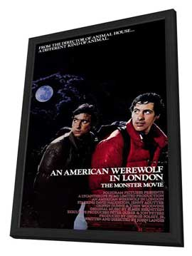 An American Werewolf in London - 11 x 17 Movie Poster - Style A - in Deluxe Wood Frame