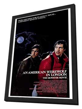 An American Werewolf in London - 27 x 40 Movie Poster - Style A - in Deluxe Wood Frame