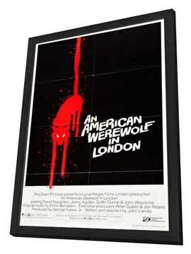 An American Werewolf in London - 27 x 40 Movie Poster - Style G - in Deluxe Wood Frame