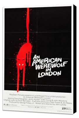An American Werewolf in London - 27 x 40 Movie Poster - Style G - Museum Wrapped Canvas