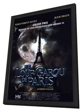 An American Werewolf in Paris - 11 x 17 Movie Poster - French Style A - in Deluxe Wood Frame