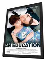 An Education - 27 x 40 Movie Poster - Style A - in Deluxe Wood Frame