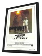 An Officer and a Gentleman - 27 x 40 Movie Poster - Style A - in Deluxe Wood Frame